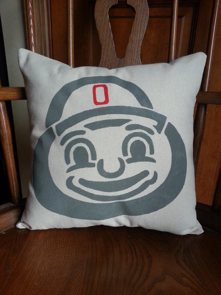 Brutus Buckeye Throw Pillow - Celebrate Local, Shop The Best of Ohio