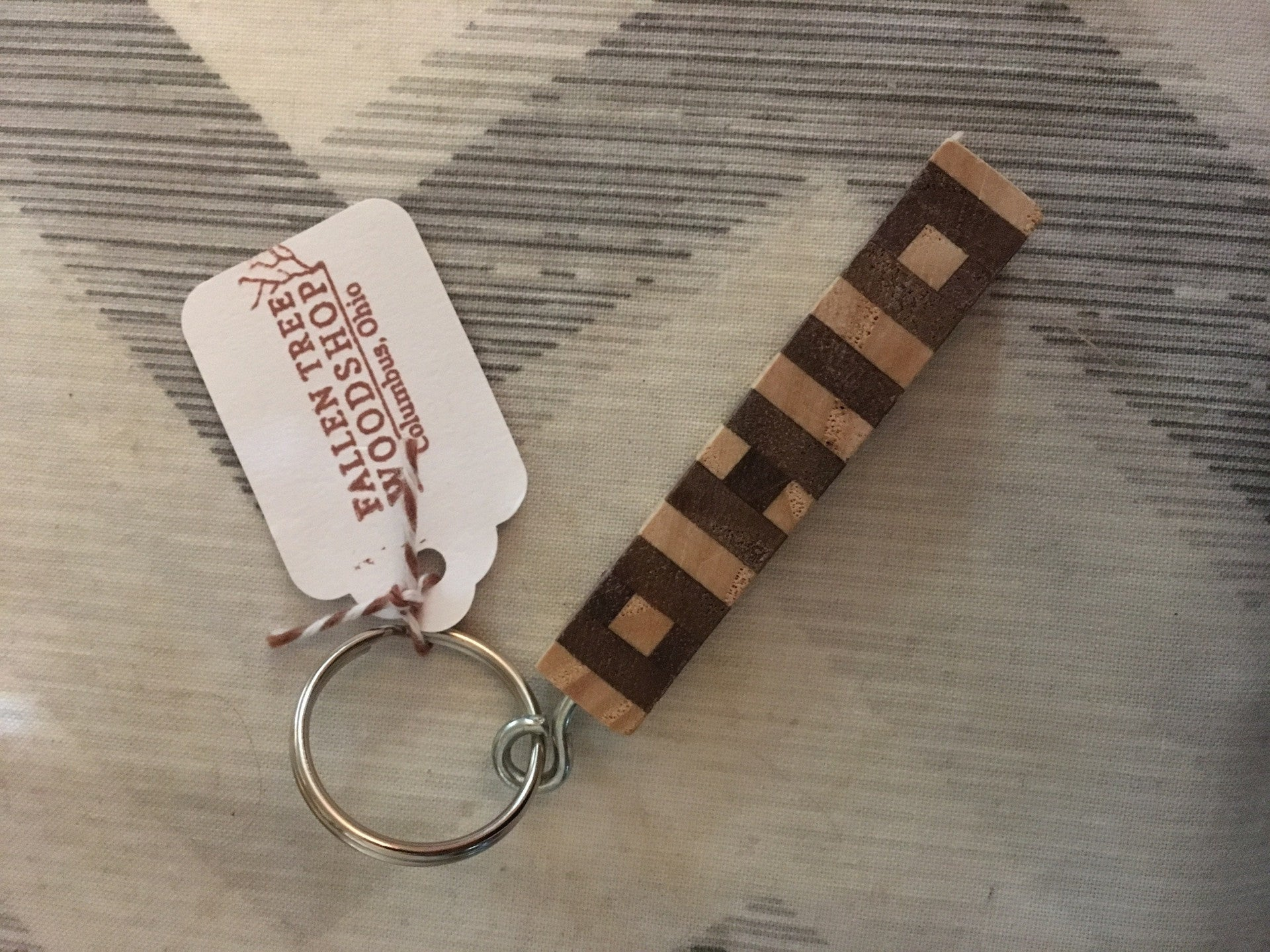 OHIO Wood Inlay Trim Key Chain - Celebrate Local, Shop The Best of Ohio