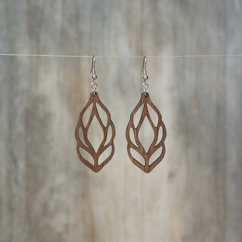 Natural Walnut Lotus Bud Earring - Celebrate Local, Shop The Best of Ohio