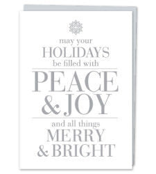 Peace and Joy Greeting Card -  Set of 8 - Celebrate Local, Shop The Best of Ohio