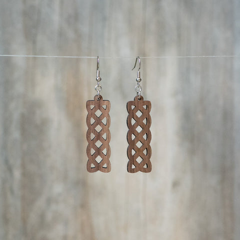 Natural Walnut Celtic Weave Earring - Celebrate Local, Shop The Best of Ohio