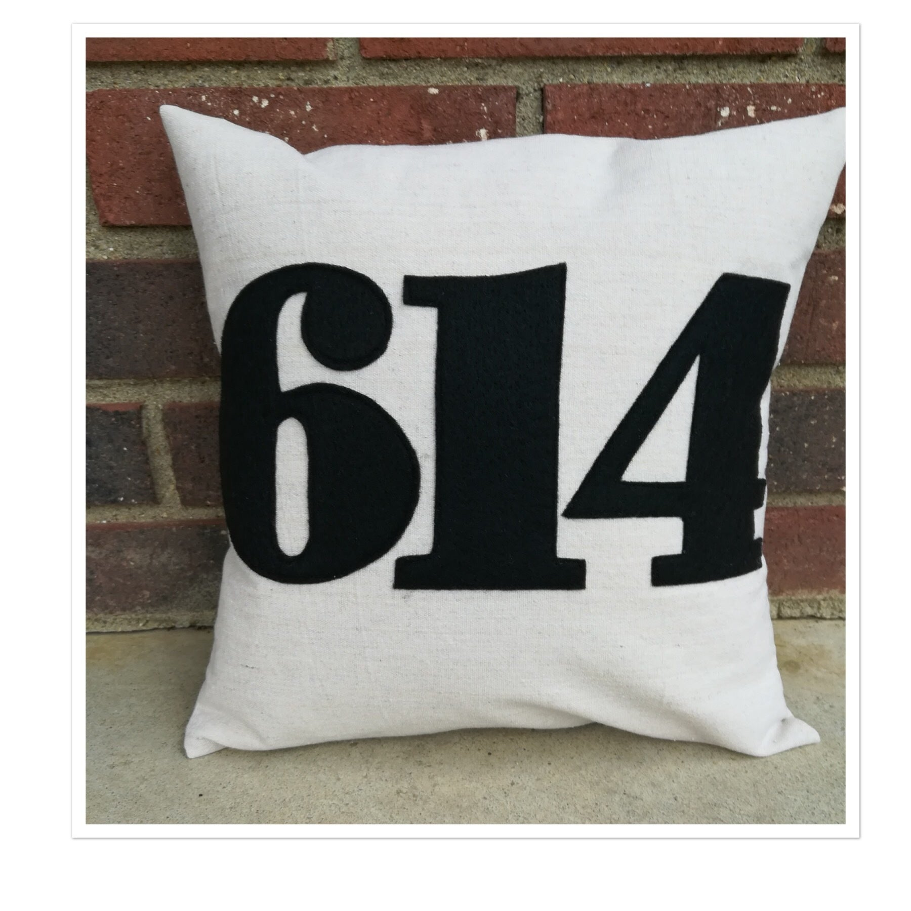 614 Area Code Pillow 12 Inch