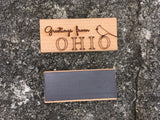 Ohio Theme Wood Laser Cut Magnet - Many Styles - Celebrate Local, Shop The Best of Ohio