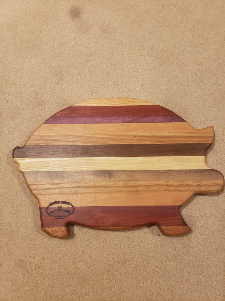 Pig Shaped Wood Cutting Board Celebrate Local Shop The Best Of Ohio