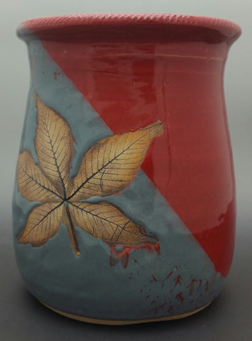 Buckeye Leaf Hand Thrown Ceramic Wine Chiller - Celebrate Local, Shop The Best of Ohio