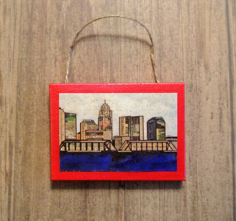 Columbus Skyline Mixed Media Ornament - Celebrate Local, Shop The Best of Ohio