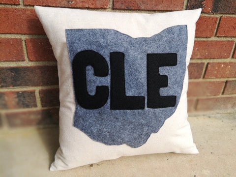 Ohio CLE Canvas Pillow or Cover - Celebrate Local, Shop The Best of Ohio