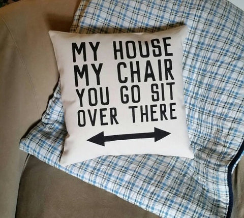 My House My Chair - Throw  Pillow - Celebrate Local, Shop The Best of Ohio