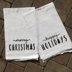 Holiday Tea Towel Merry Christmas - Celebrate Local, Shop The Best of Ohio