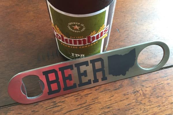 Ohio Bottle Opener - Stainless Steel