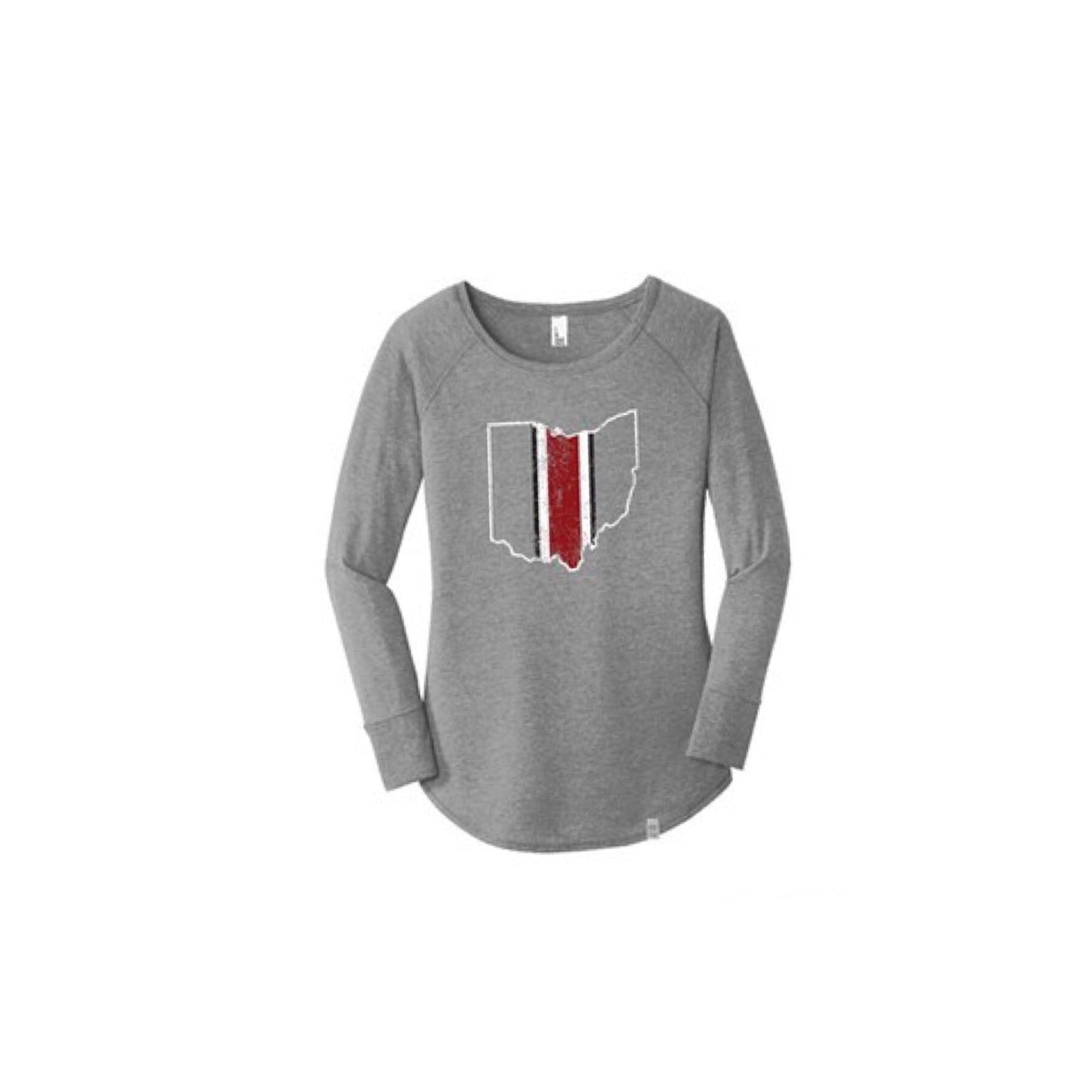 Ohio Helmet Long Sleeve Womens T-Shirt
