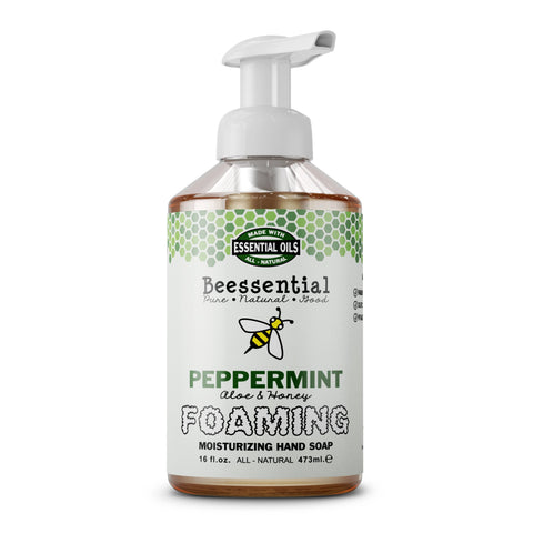 Peppermint Aloe and Honey Natural Foaming Hand Soap - Celebrate Local, Shop The Best of Ohio