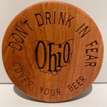 Ohio Wood Beer Deckle Cover / Coaster - Celebrate Local, Shop The Best of Ohio