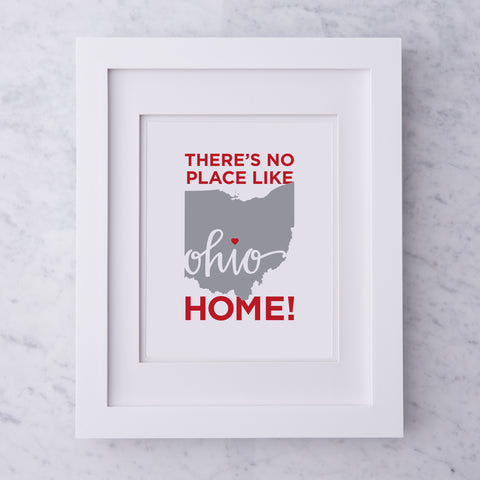 Ohio Heart Art Print Framed 11 x 14 - Celebrate Local, Shop The Best of Ohio