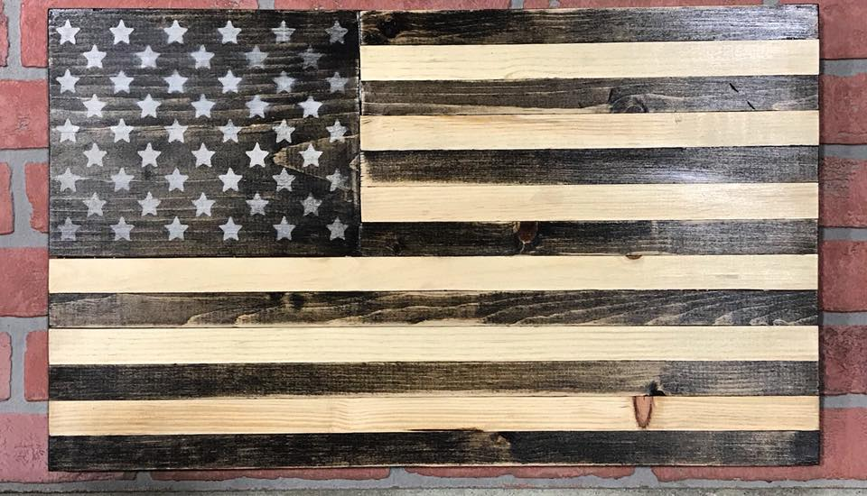 USA Wood Handmade Flag Wall Plaque - Celebrate Local, Shop The Best of Ohio