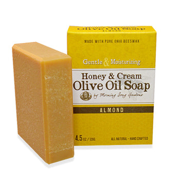 Honey & Cream Olive Oil Soap - Almond (4.5 oz.)