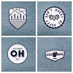 Ohio Black and White Stickers