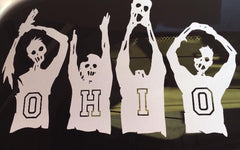 O-H-I-O Zombie Transfer Stickers - Celebrate Local, Shop The Best of Ohio