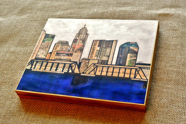 Columbus Skyline Wood Print 8x10 - Celebrate Local, Shop The Best of Ohio - 2