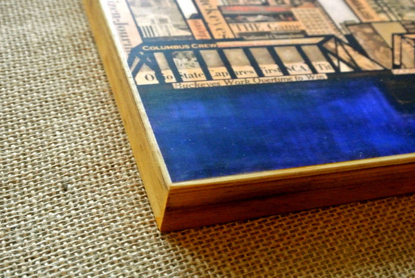 Columbus Skyline Wood Print 8x10 - Celebrate Local, Shop The Best of Ohio - 3