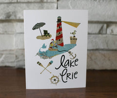 Lake Erie Lighthouse Vintage Notecard Set - Celebrate Local, Shop The Best of Ohio