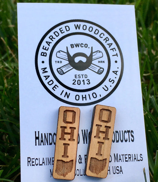 Wood Laser Cut Ohio Earrings (Various Styles) - Celebrate Local, Shop The Best of Ohio - 4