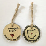 Ohio Heart Ceramic Ornaments - Celebrate Local, Shop The Best of Ohio