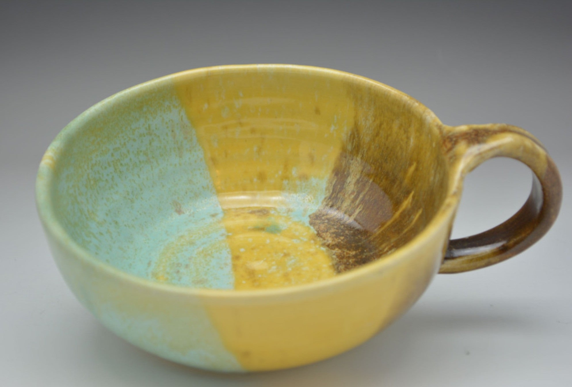 Earthtone Hand Thrown Ceramic Soup Bowl