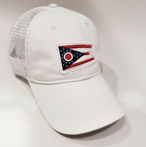 Ohio Flag Trucker Hat White - Celebrate Local, Shop The Best of Ohio
