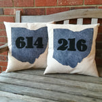 Ohio Area Code Canvas Pillow - Celebrate Local, Shop The Best of Ohio
