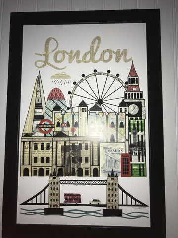 London England Skyline Collage Print - Celebrate Local, Shop The Best of Ohio