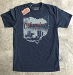Vintage Columbus Skyline T-Shirt - Celebrate Local, Shop The Best of Ohio