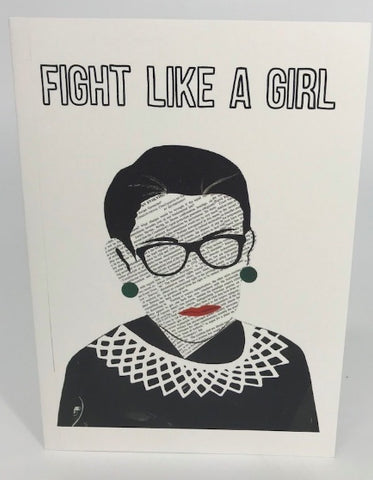RGB Fight Like a Girl Collage Print - Ruth Bader Ginsburg - Celebrate Local, Shop The Best of Ohio