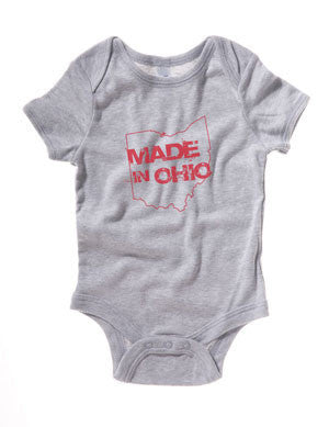 Made in Ohio Gray Infant Onesie - Celebrate Local, Shop The Best of Ohio