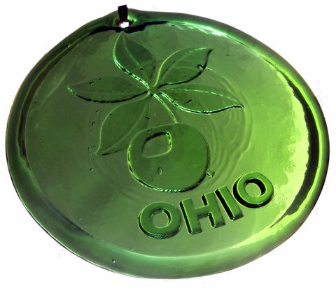 Ohio Buckeye Leaf Recycled Glass Suncatcher - Celebrate Local, Shop The Best of Ohio