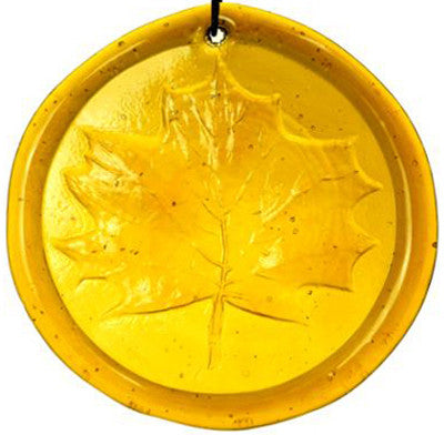 Maple Leaf - Recycled Glass Suncatcher - Celebrate Local, Shop The Best of Ohio - 1