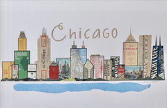 Chicago Skyline Vintage Print - Celebrate Local, Shop The Best of Ohio