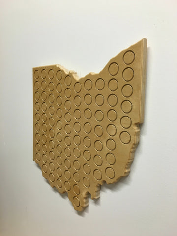 Collectible Beer Cap Ohio Shape Wood Plaque - Celebrate Local, Shop The Best of Ohio
