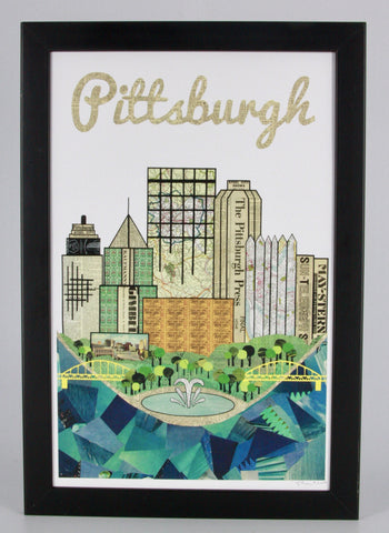 Pittsburgh Skyline Collage Print - Celebrate Local, Shop The Best of Ohio