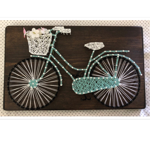 Bicycle String Art 12 in x 7 in - Celebrate Local, Shop The Best of Ohio