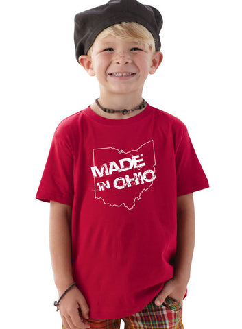 Made In Ohio Red Toddler T-Shirt - Celebrate Local, Shop The Best of Ohio