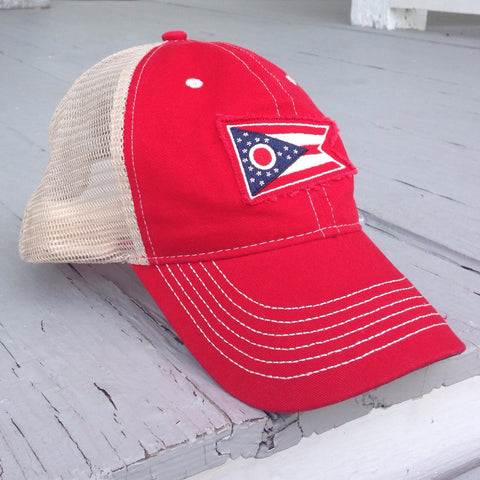 Ohio Flag Hat - Red - Celebrate Local, Shop The Best of Ohio