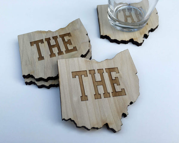 Ohio Themed Wood Coasters - Single (Various Styles) - Celebrate Local, Shop The Best of Ohio - 1