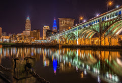 Cleveland Reflections - Unframed Photographic Print - Celebrate Local, Shop The Best of Ohio
