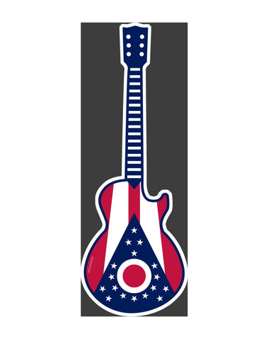 Guitar State Flag of Ohio Decal Sticker - Celebrate Local, Shop The Best of Ohio