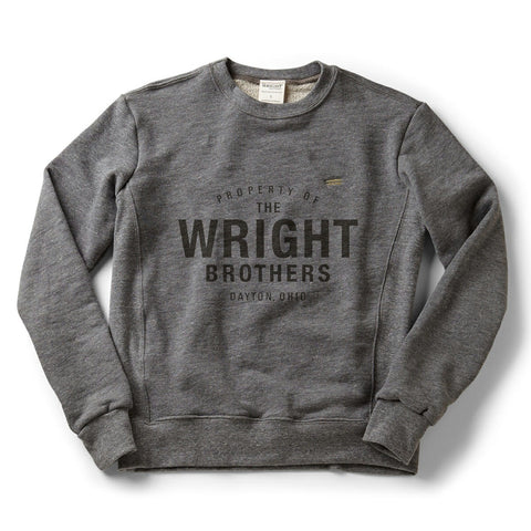 Property of The Wright Brothers Classic Crew Sweatshirt - Celebrate Local, Shop The Best of Ohio