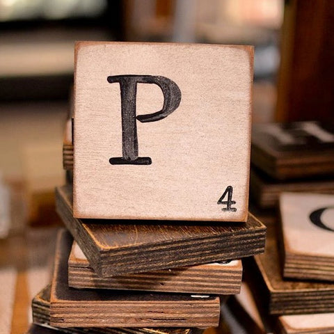 Scrabble Wood Coaster - Celebrate Local, Shop The Best of Ohio