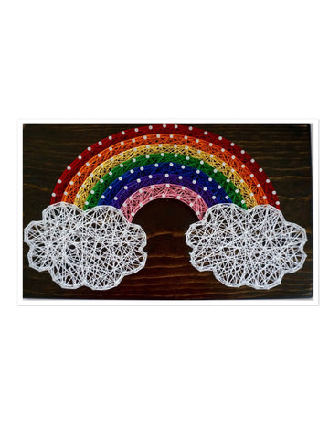 Rainbow String Art 12 in x 8 in - Celebrate Local, Shop The Best of Ohio