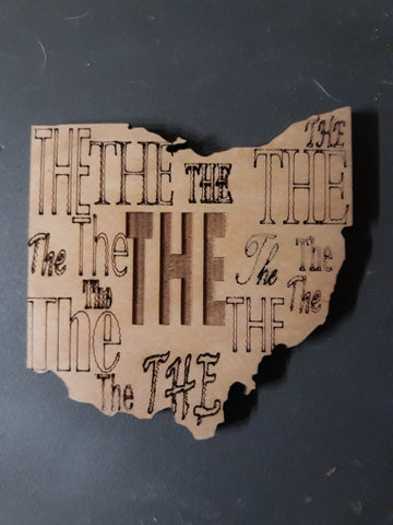 THE Ohio Laser Cut State of Ohio Shaped Coaster - Celebrate Local, Shop The Best of Ohio