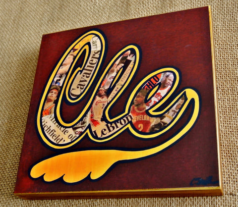 Cleveland Cavaliers Retro Wood Print - Celebrate Local, Shop The Best of Ohio - 1